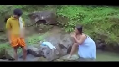 Hot SHAKEELA Bathing Outdoor