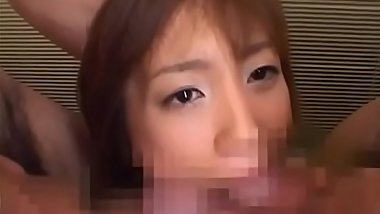 Young japanese chick ends wicked porn play with bukkake