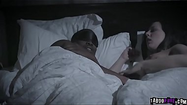 Whitney Wright strokes a big black cock of Isiah Maxwell