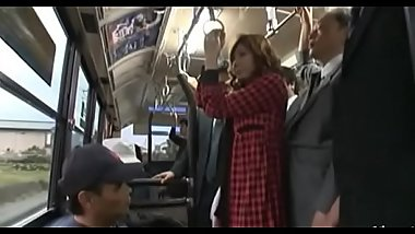 Japanese hotty gets completly mistreated in public transport