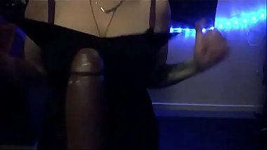How BBW with Big Boobs Tittyfucks BBC Dildo