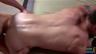 Army twink getting his ass slammed