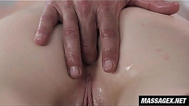Gently Massaging The Tip Of Her Asshole