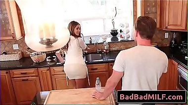 Miss Raquel help horny boy with thick hard cock