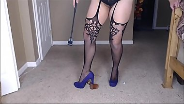 Cock and Ball Torture at the Office Sadistic Small Penis Humiliation and Pain Temptation Manipulation Femdom