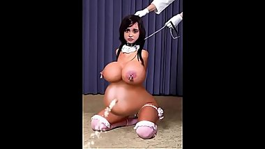 Belly Inflation Slave doll Eager to be Filled   3d cartoon 3d hentai anime game