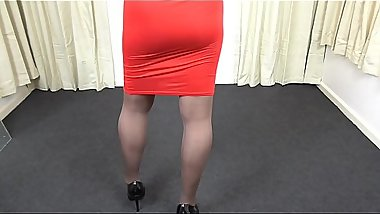 Skin Tight Skirt and Pantyhose