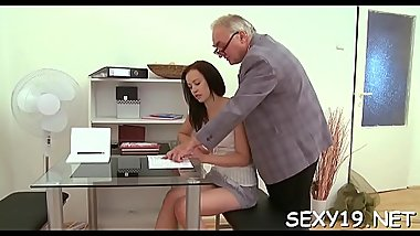 Playgirl is getting hardcore doggystyle drilling from teacher