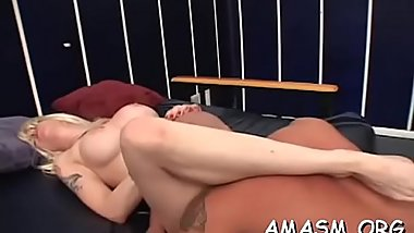 Agreeable chicks enduring femdom action in home video