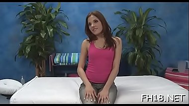 Sexy 18 year old babe gets fucked hard doggystyle by her massage therapist