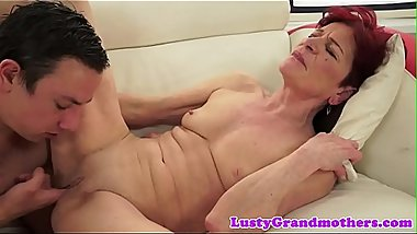 Redhead amateur granny fucked passionately