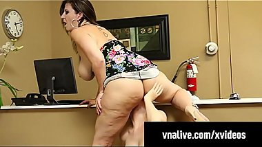 Sara Jay Face Fucks Seamstress Lauren Phillips! VNALive.com!