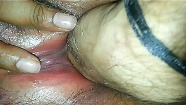 indian wife fist and finger