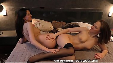 double dildo licking lesbian experiment wow