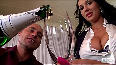 Celebration at office makes boss bang busty babes Patty Michova &amp_ Kyra Hot