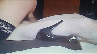 sexy 50 yr old high heels stockings