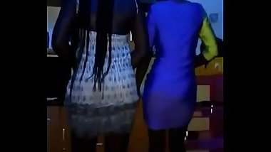 Two sexy African girls shaking their asses