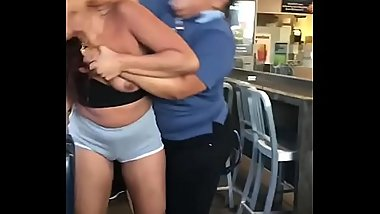 Girls fight in McDonald'_s