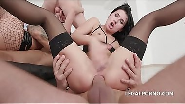 Slutty Babes Nicole Black &_ Daria Zemskaya Balls Deep Anal, DAP, Gapes and a Creampie To Swallow