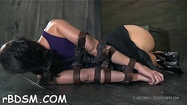 Masked beauty gets her marangos bounded hard with toy drilling