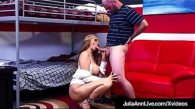 Horny Milf Tutor Julia Ann Sucks &amp_ Fucks Her Pupil!