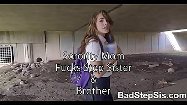 Step Brother and Step sister family FFM fuck with slutty MILF - BadStepSis.com