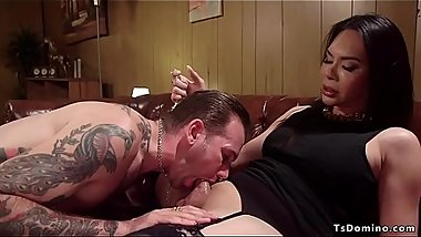Tranny hires and anal fucks inked guy