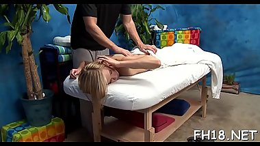Chick with a perfect ass fucked by massage therapist
