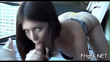 Nasty chick seems to desire money after she gets fucked