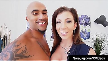 Big Butt Milf Sara Jay Does SexTape Fucking Black Cock!