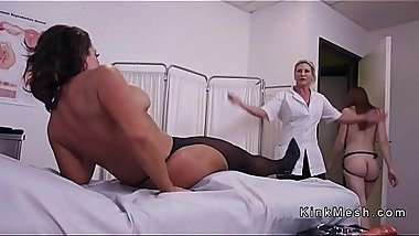 Huge tits nurse anal fisted and fucked