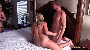 Mother and Son fuck a WHORE