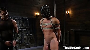 BDSM sub gets bound and dominated