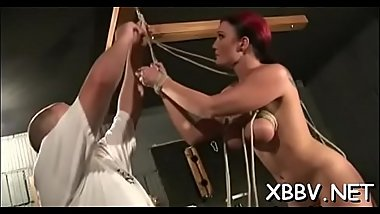 Obedient slut wants breast bondage stimulation on livecam