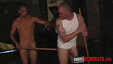Night shift worker gets barebacked hard before creampie
